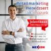 Retail marketing menedzsert alkalmazunk