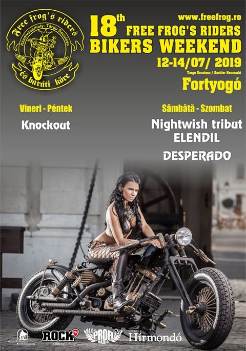 18th Free Frog's Riders Bikers Weekend 2019 - Fortyogó